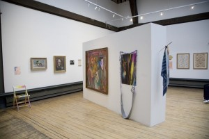 Studio 58 installation view (2012), featuring works by (L-R) Hayley Tompkins, Louise Armour, Carole Gibbons and Laura Aldridge.