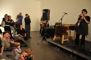 Nerea Bello performs at the opening of Votive at CCA, Glasgow, December 2009