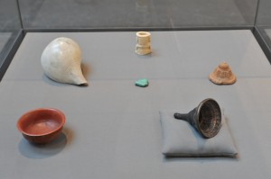 Objects from The World Cultures Collection of Glasgow Museums on display in Votive (2009)