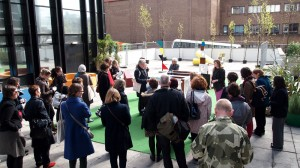 Sarah Lowndes talks to the Curators & Collections Tour organised by the Contemporary Art Society at Dialogue of Hands (2012)