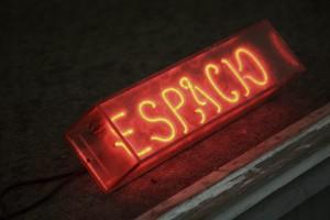 Optimo Espacio neon sign
