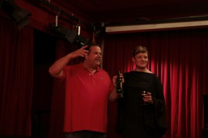 The Glasgow Weekend co-curators Joern Boetnagel (BQ) and Sarah Lowndes at the FF Optimo Afterparty