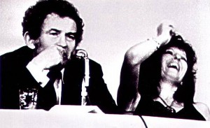 Norman Mailer and Germaine Greer, still from Town Bloody Hall (1971)